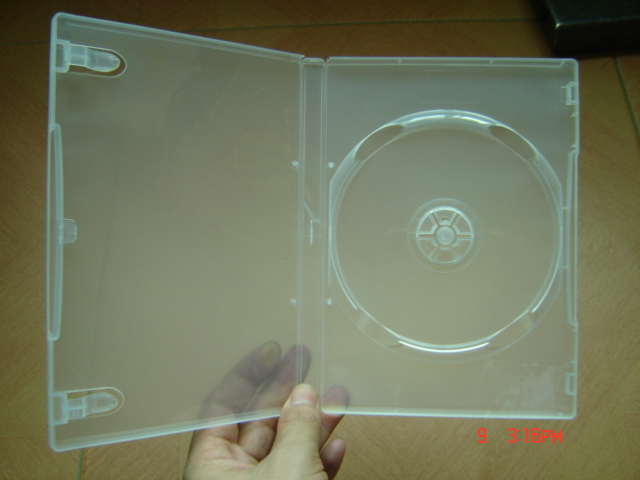 14mm Single Transparent DVD Case DVD Box DVD Cover(YP-D801Y)