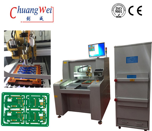 PCB Router PCB Depaneling Equipmen with upper Vacuum Cleaner
