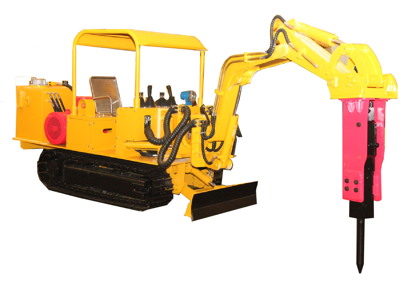 WPZ30400 Underground Roadway Maintenance Machine with gethering breaking and raising functions