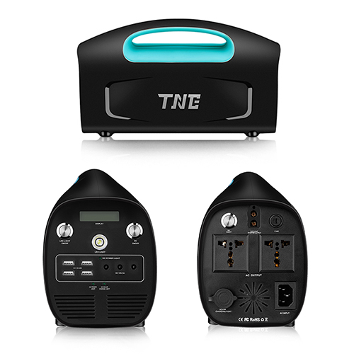 TNE Portable Solar Online Generator Power Bank UPS Transformer with Solar Panel Charger