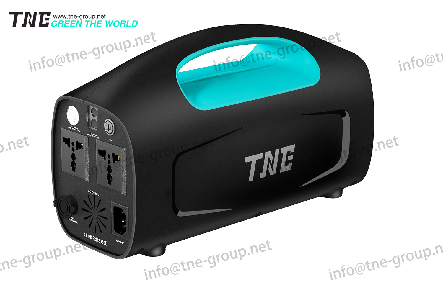TNE Portable Solar Online Lithium Generator Power Bank UPS System with Solar Panel Charger