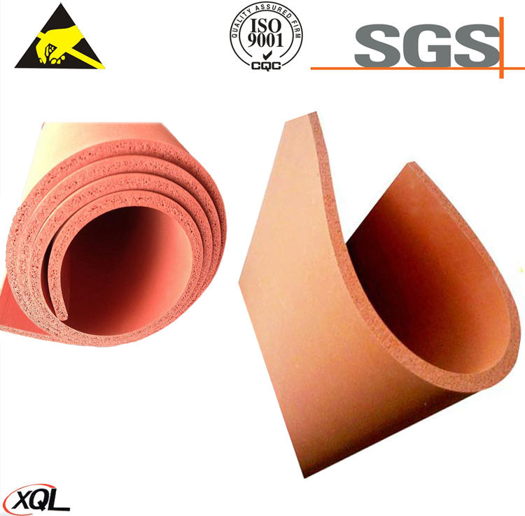 2017 High Quality Customized Colorful Silicone Foam Sheet from China