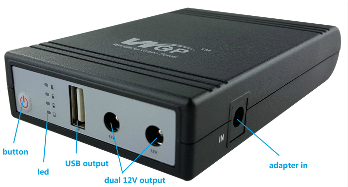 220v AC to mini DC UPS 12v 5v output power supply unit UPS