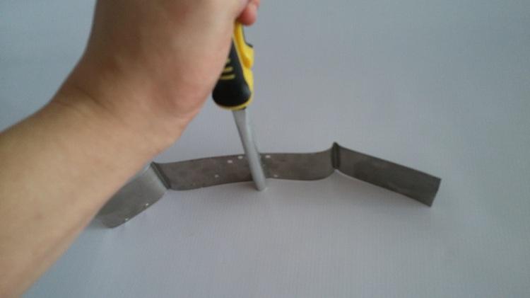 10cm Long Iron Word Bender Advertising Processing Clamp Bending