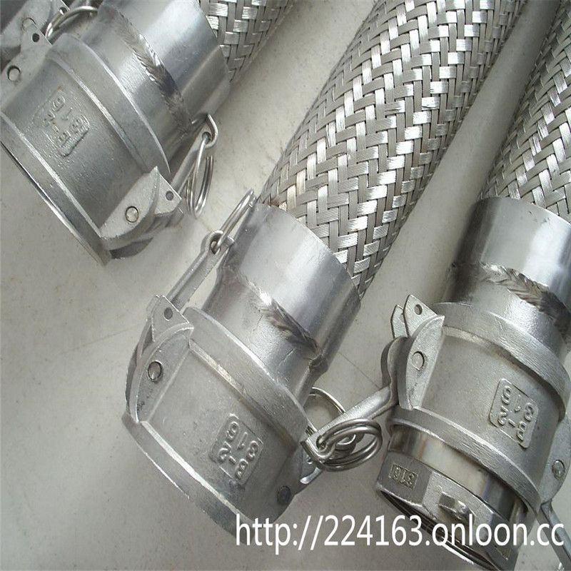 Stainless steel flexible hose with cam lock couplings