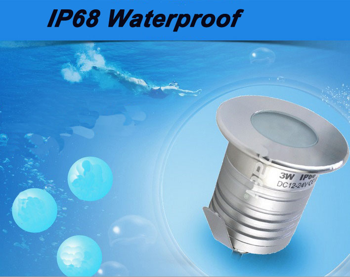 Stainless Steel Anticorrosion IP68 Waterproof 12V 24V Low Voltage Mini 3W LED Swimming Pool Fountain Landscaping Cree