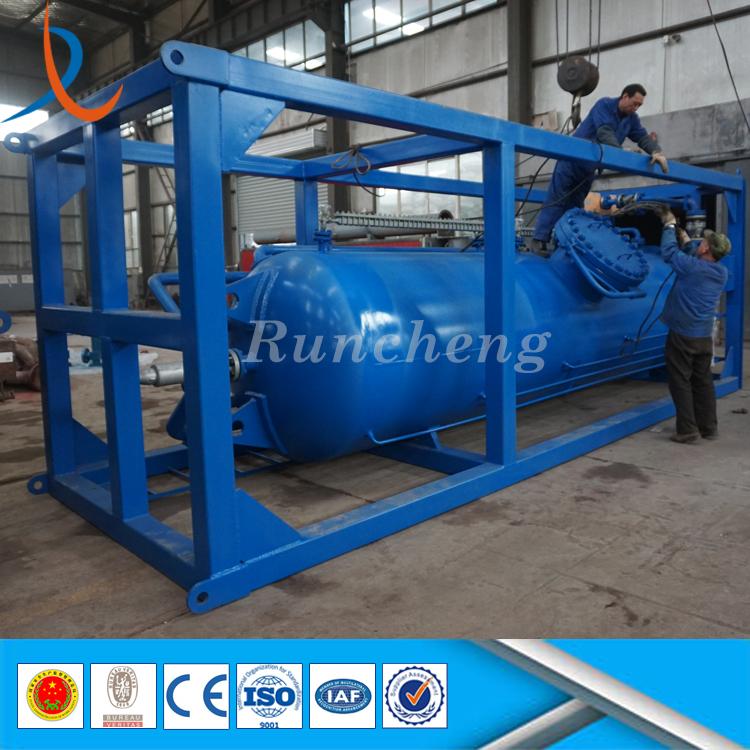 Skid Mounted Oilfield Stainless Steel Buffer Tank / High Pressure