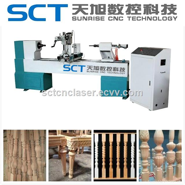 China Factory 1530 Baseball Bat CNC Wood Turning Lathe from