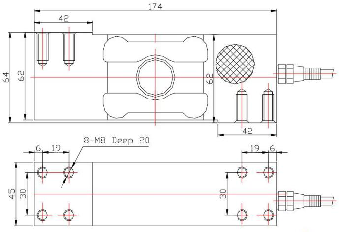MC8823 Load Cell for elctronic scales single point load cell
