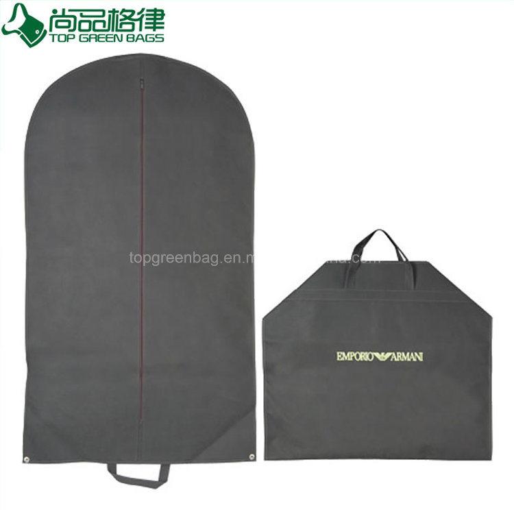 Zip Wholesale Foldable Non Woven Clothes Garment Suit Coat Dust Cover