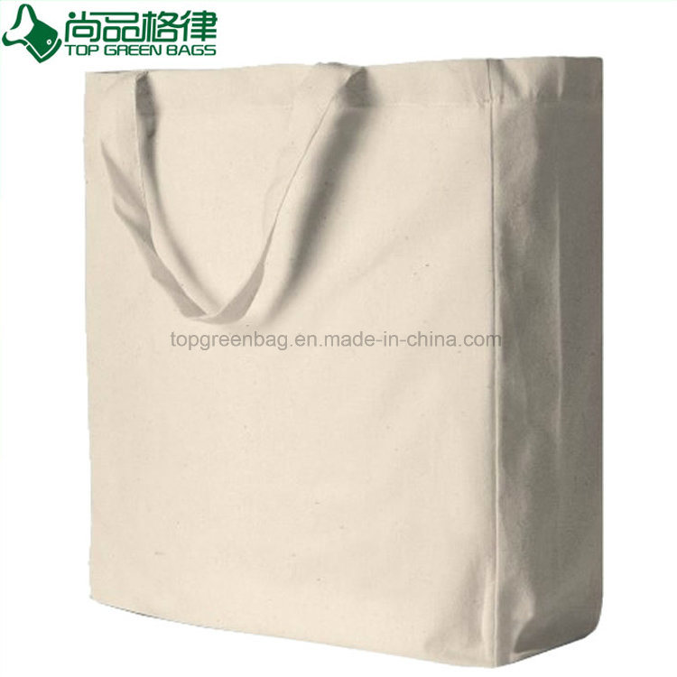 Reusable Wholesale Promotional Plain Blank Cotton Shopping Tote Bags