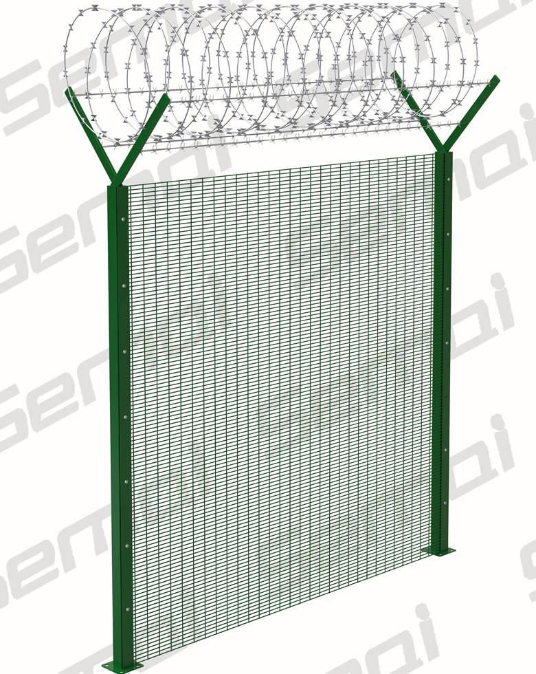 358 Anti Climb Fence With Razor Wire Type