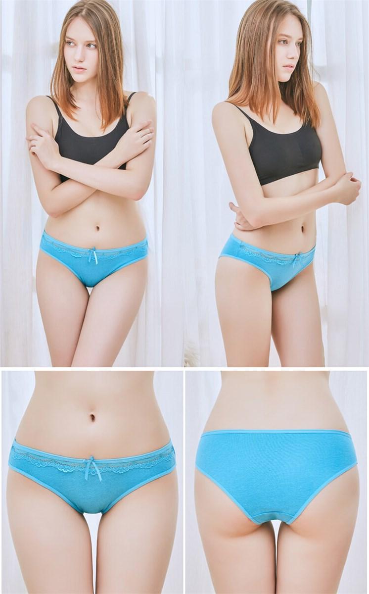 yun meng ni sexy underwear cute bow waist lace hipister ladies