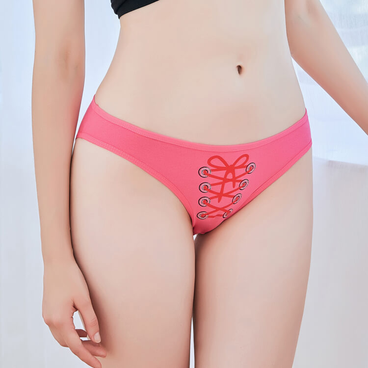 5f0d8bb3baf4e Yun Meng Ni Sexy Underwear Tape Printing Girls Briefs Breathable Cotton  Panties for Women purchasing