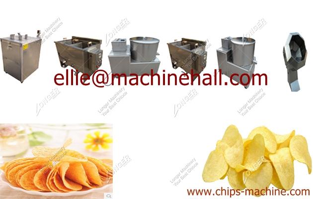 Small Scale Potato Chips Production LinePotato Chips Making Machine