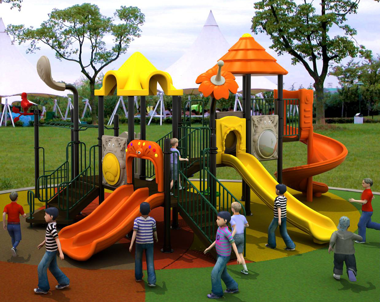 Children Playground Slide BD-DD825