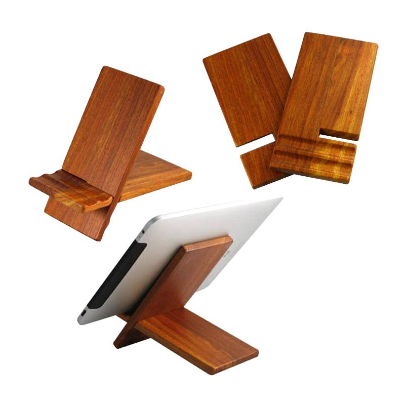 Wood Display Stand For iPad And Android Tablet PC