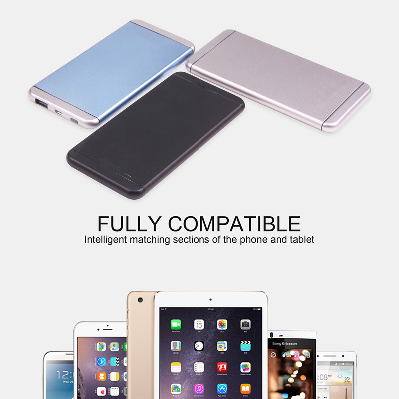 Lithium polymer battery Slim and light best mobile power bank 5000mah outdoor portable usb charger