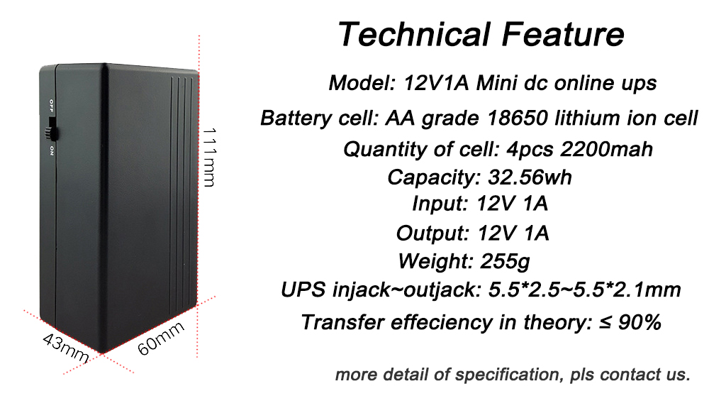 Small Size 18650 Lithium Ion Battery DC Power Supply WiFi
