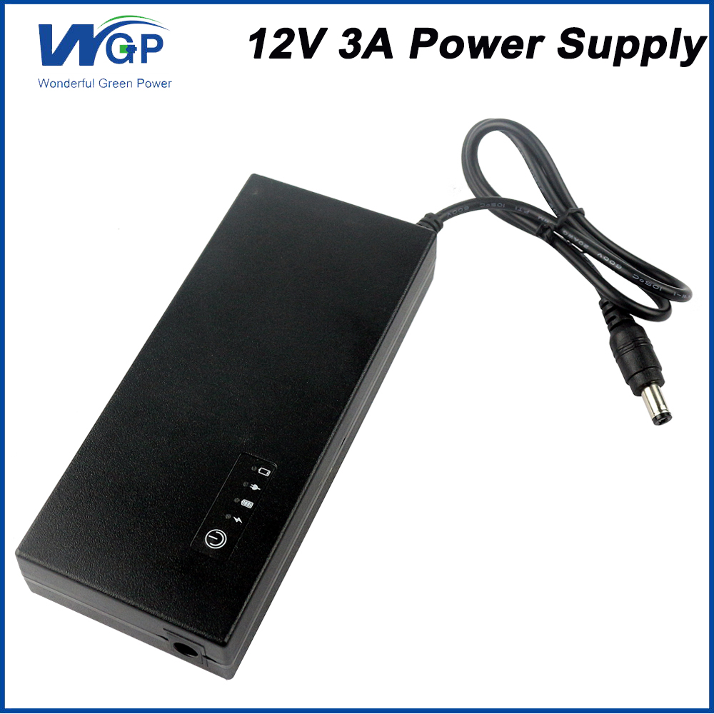 Rechargeable Power Source 30w 12v 3a Mini Ups Battery Backup Diagram Upscircuit Upssolar Inverter With Charger Uninterruptible Supply For Small Computer