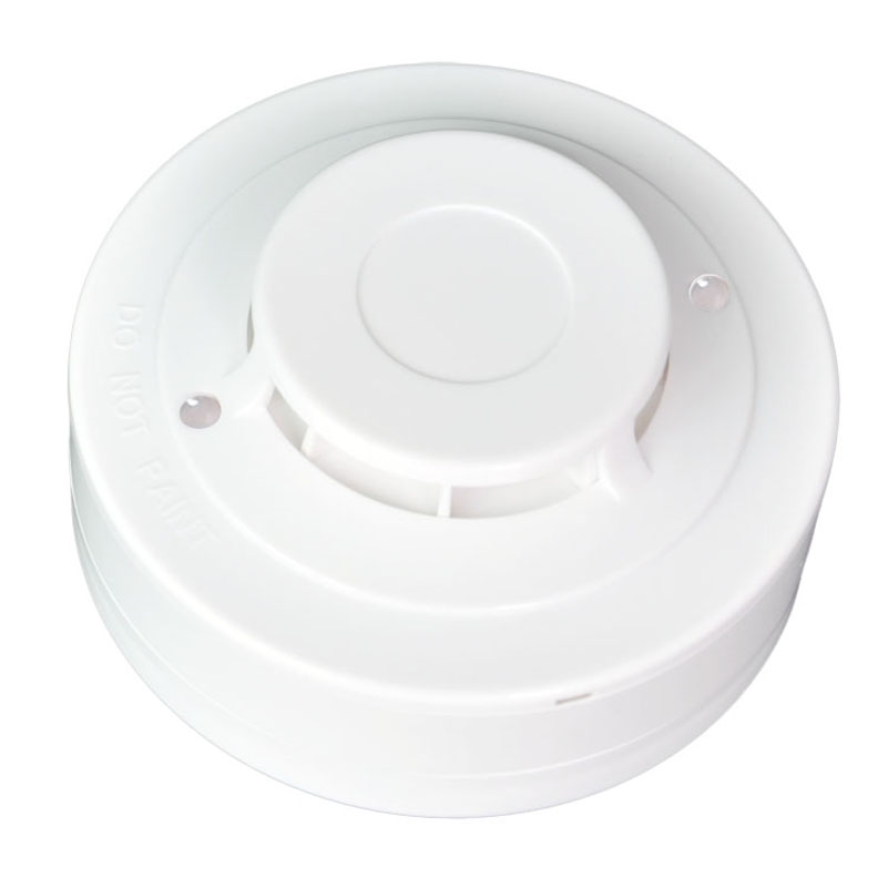 2-Wire Conventional Heat Detector Heat Alarm Sensor with a Rate-of-Rise Temperature Sensor for Fire Alarm System
