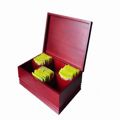 pinsidea Cherry Wooden Tea Bag Display Box