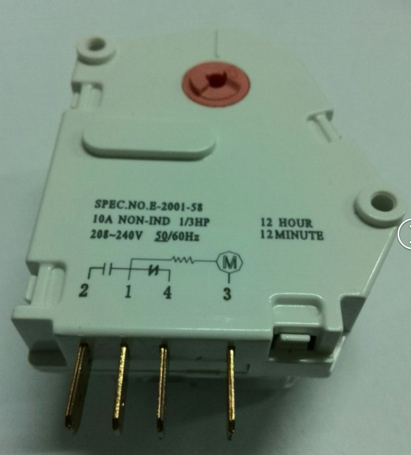 Electric Defrost Timer, Refrigerator Spare Parts, Defrost