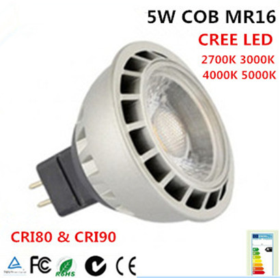 Dimmable LED MR16 5W Narrow Beam 24deg GU5.3 Base Dimmable