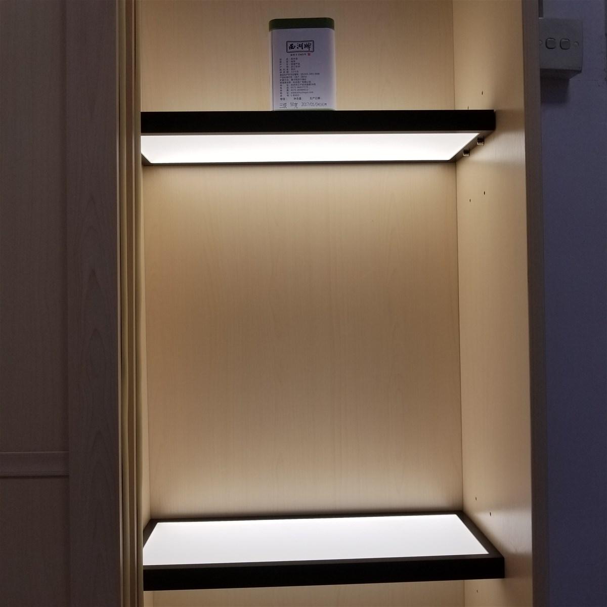 LED Under Cabinet Light Laminate Wooden Shelf Light