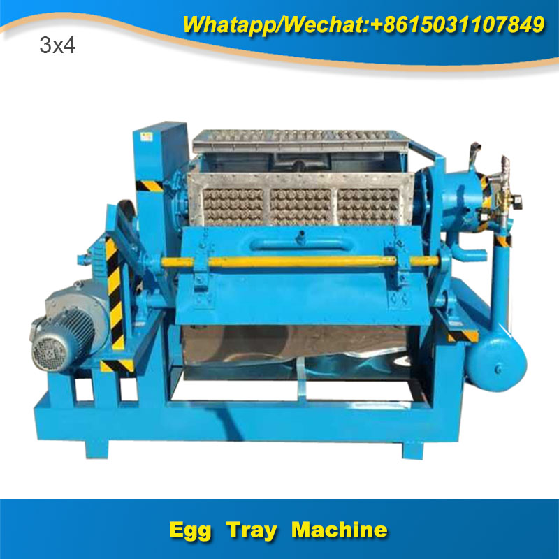 2000 p/h Full Automatic Save Energy Egg Tray Machine with Unique Technology