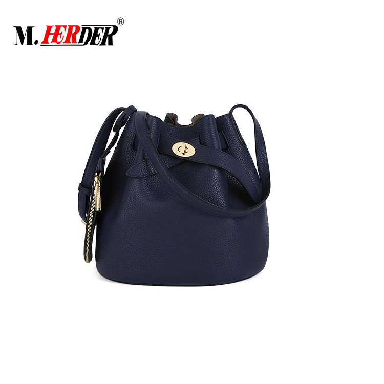 91e8bdc59f New Design Girl Quality and Fashionable Real Leather Bucket Bags ...