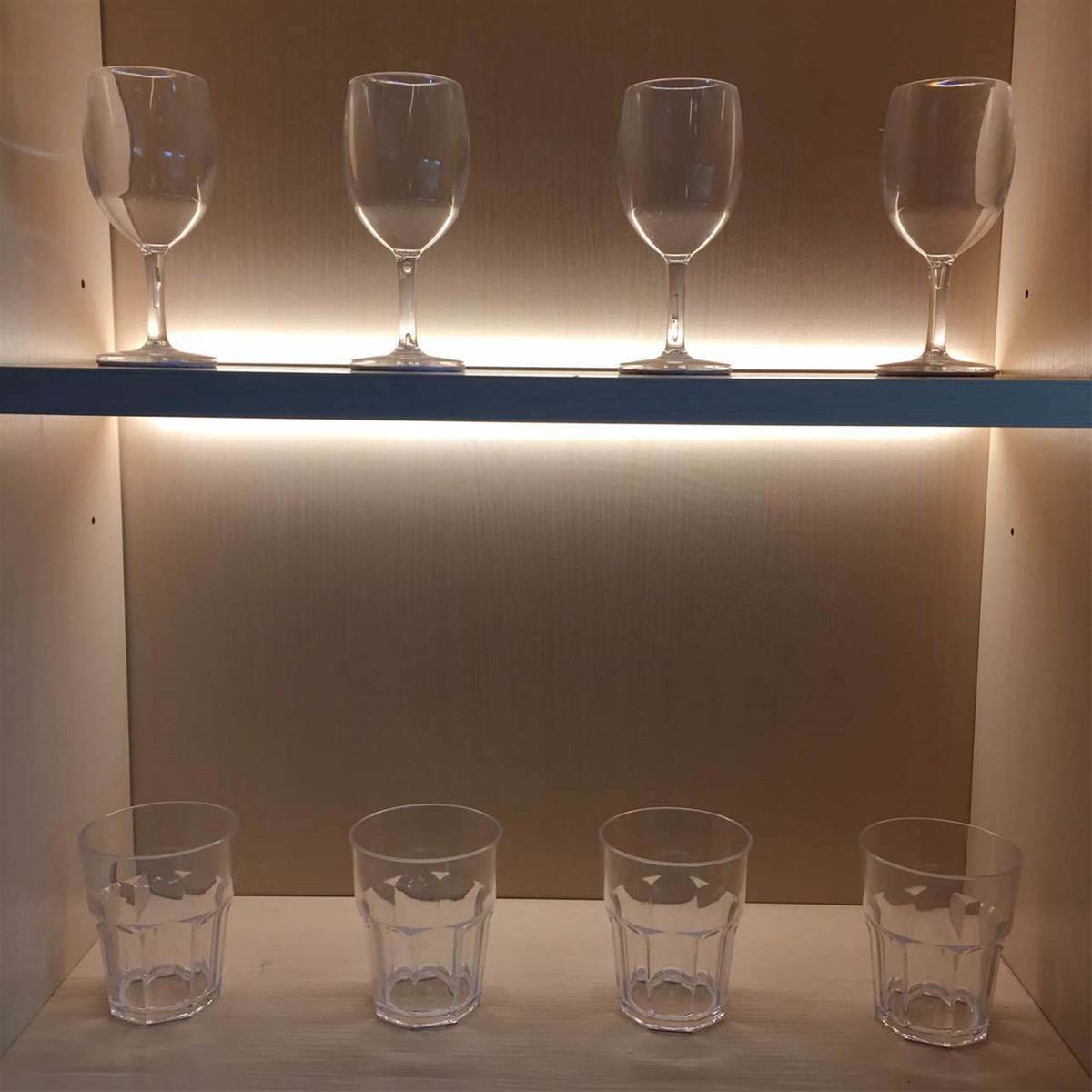 25mm wooden shelf liminate cabient LED Light