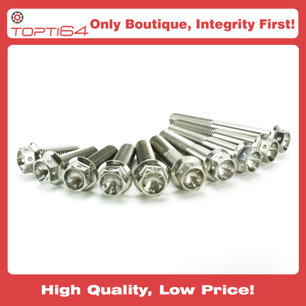 M5 M6 M8 M10 Titanium Hex Head RACE Spec Bolt Drilled Lock Wire from
