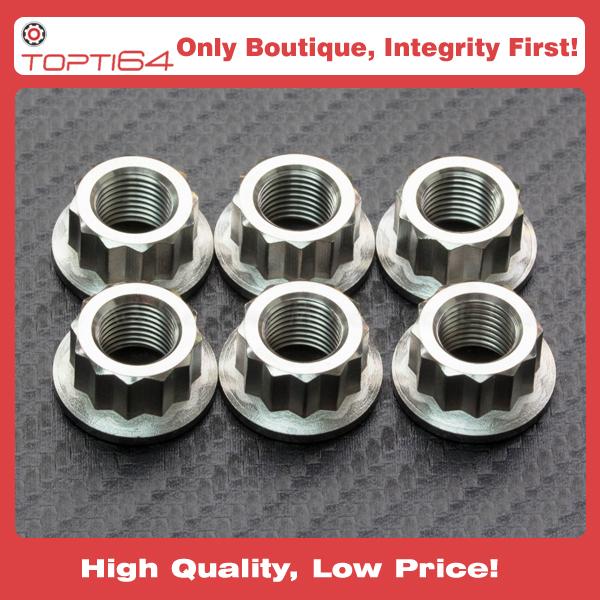 Titanium Sprocket Nut Bi-Hex M8 x 1 25mm (LOCK) from China