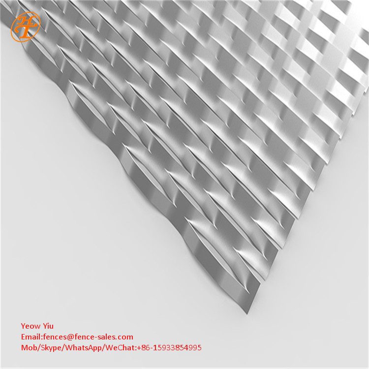 Diamond Shape Raised Expanded Metal Sheet Mesh for Facade purchasing ...