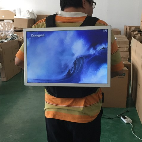 22 Inch Outdoor Portable battery powered lcd advertising screen