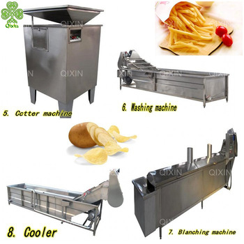Commercial Small Scale Lays Potato Chips Factory Making & Production Process Machine Top De Chips Potato Chip m
