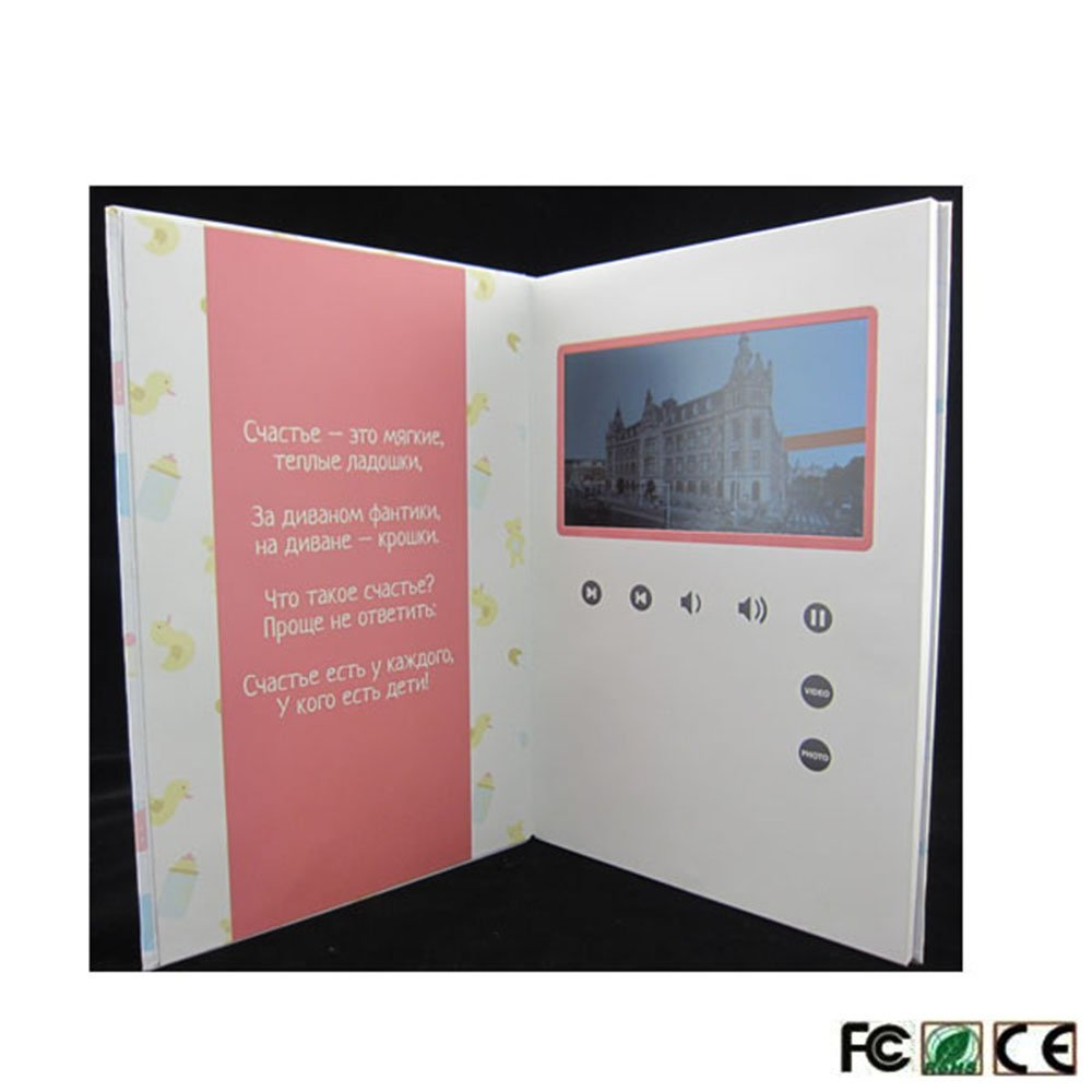 LCD Digital Screen Greeting Card Customized Video Memory Brochure 10