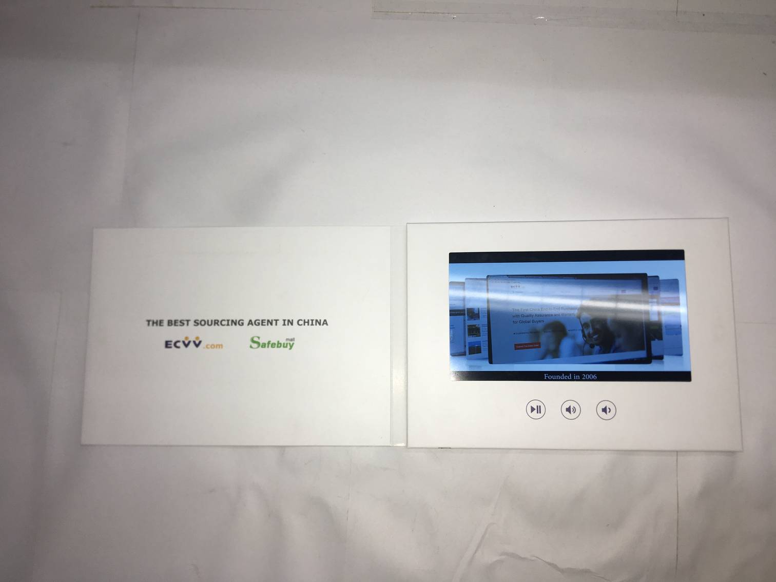 43 Lcd Invitation Video Greeting Card For Gifts Promotion With