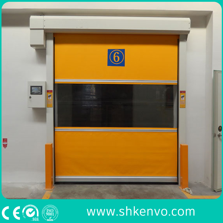 Automatic Pvc Fabric High Sd Fast Rapid Overhead Rolling Or Roller Shutter Garage Door