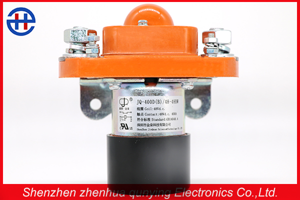 400a Bridge Double-Coil Opened Contacts Rate Voltage 48v DC Contactor Used in Electric Mini Dumper, Battery Vehicle
