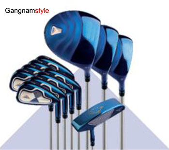 Gangnamstyle Mans Complete Golf Clubs Set with Golf Bag Headcover 12 PiecesBlue