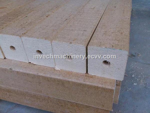 Six Head Hydraulic Wood Sawdust Pallet Feet Block Extruder