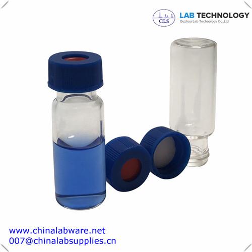 2ml HPLC Clear Glass Screw Vial USP1 9mm Neck Free Sample