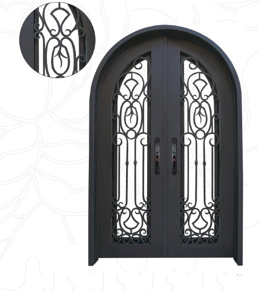 2. Chinese Factory Fabricated Iron Doors EBD001, Security Steel Door, Customize Metal Doors, Iron Entry Doors, Entrance Doors