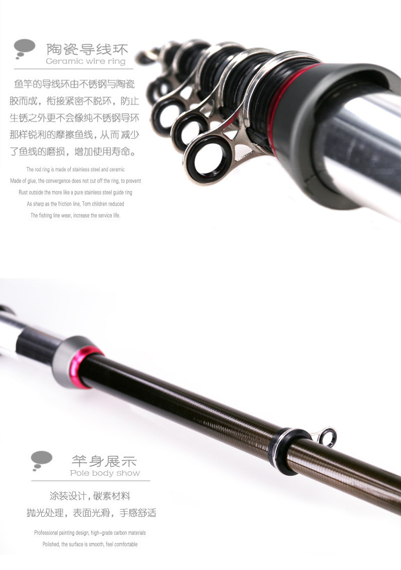 DEUKIO 13M Pocket Size Telescopic Fishing Rod Carbon Fiber Combo Carp Sea Fishing Rod Pole Retractable Fish Rods
