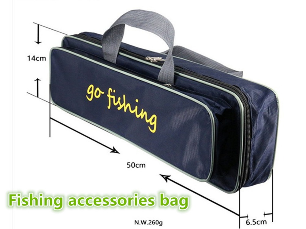 Portable 50cm Fishing Tool Accessories Bag Outdoor Sports Equipment Storage Fish Carp Hook Line Reel Fishing Bags
