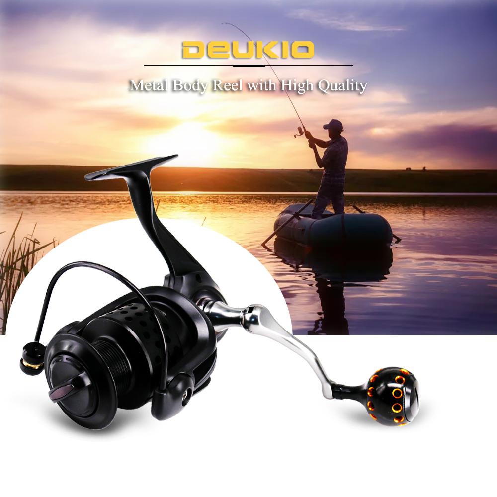 DEUKIO 3000 Series 71BB Metal Spool Spinning EVA Handle Saltwater Carp Fishing Reel