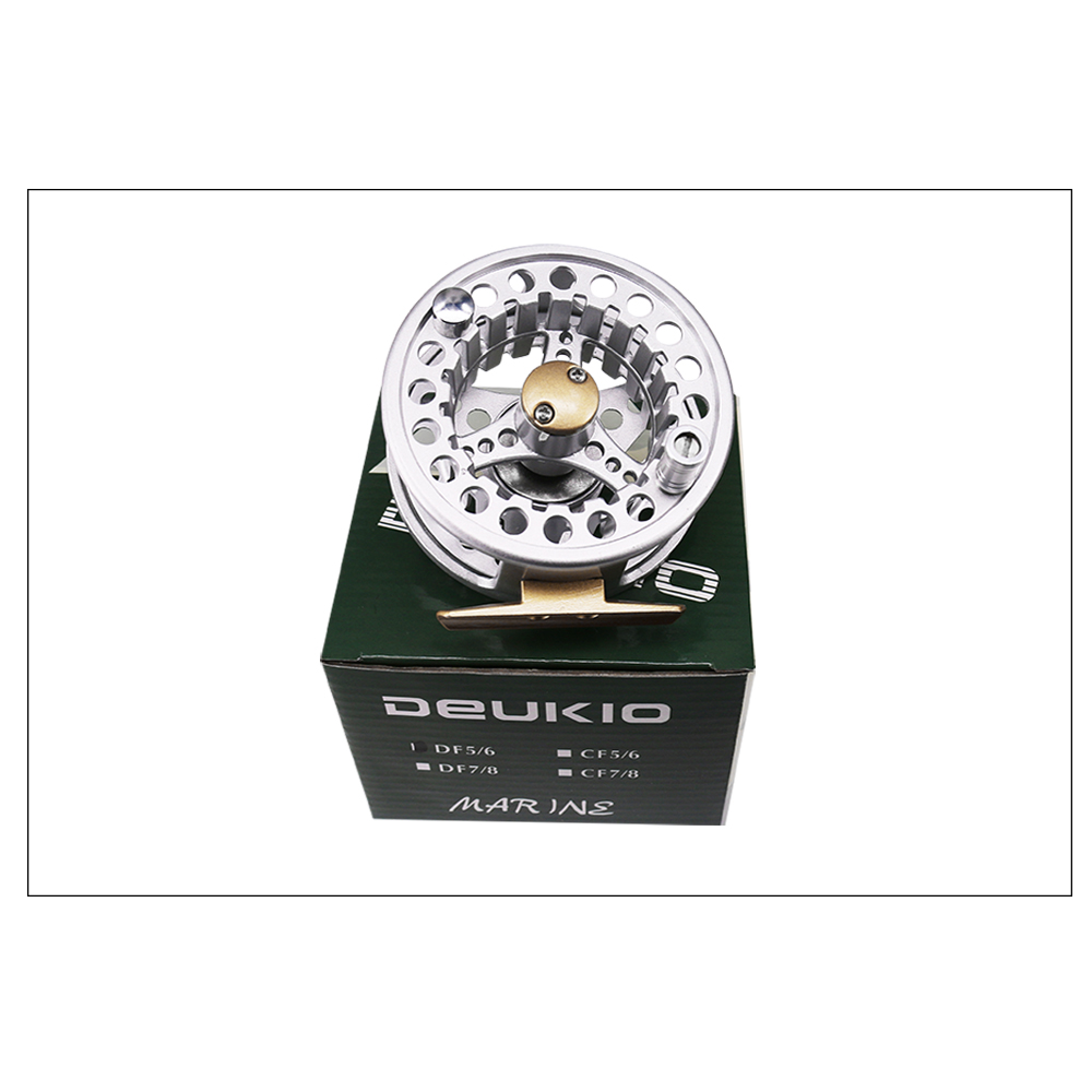 DEUKIO 85mm Fly Fishing Reel Flies Front Line Wheel 21BB 11 Gear Ratio Outdoor Sports 2018 Hot Sale Fishing Tackle