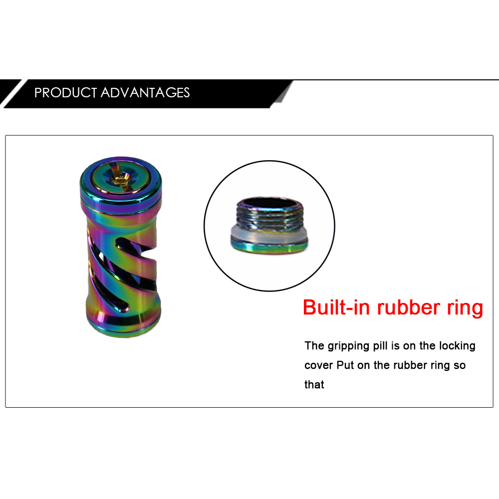 DEUKIO HN0726 DIY Refit Colorful Fishing Reel Handle Knob Grip for SDA Brand Rocker Arms Bait Casting Reel Accessories